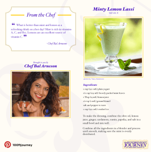 Minty Lemon Lassi