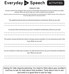 Speech Therapy Worksheet Creator - Everyday Speech [ 1035 x 800 Pixel ]