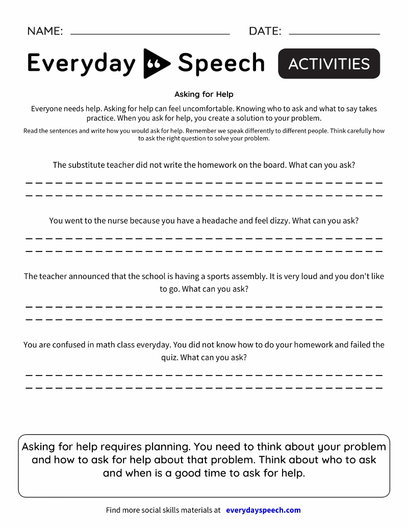 medium resolution of Speech Therapy Worksheet Creator - Everyday Speech