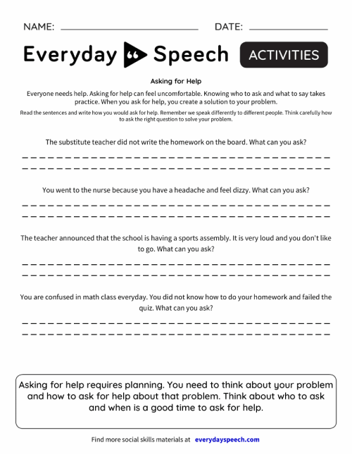 small resolution of Speech Therapy Worksheet Creator - Everyday Speech