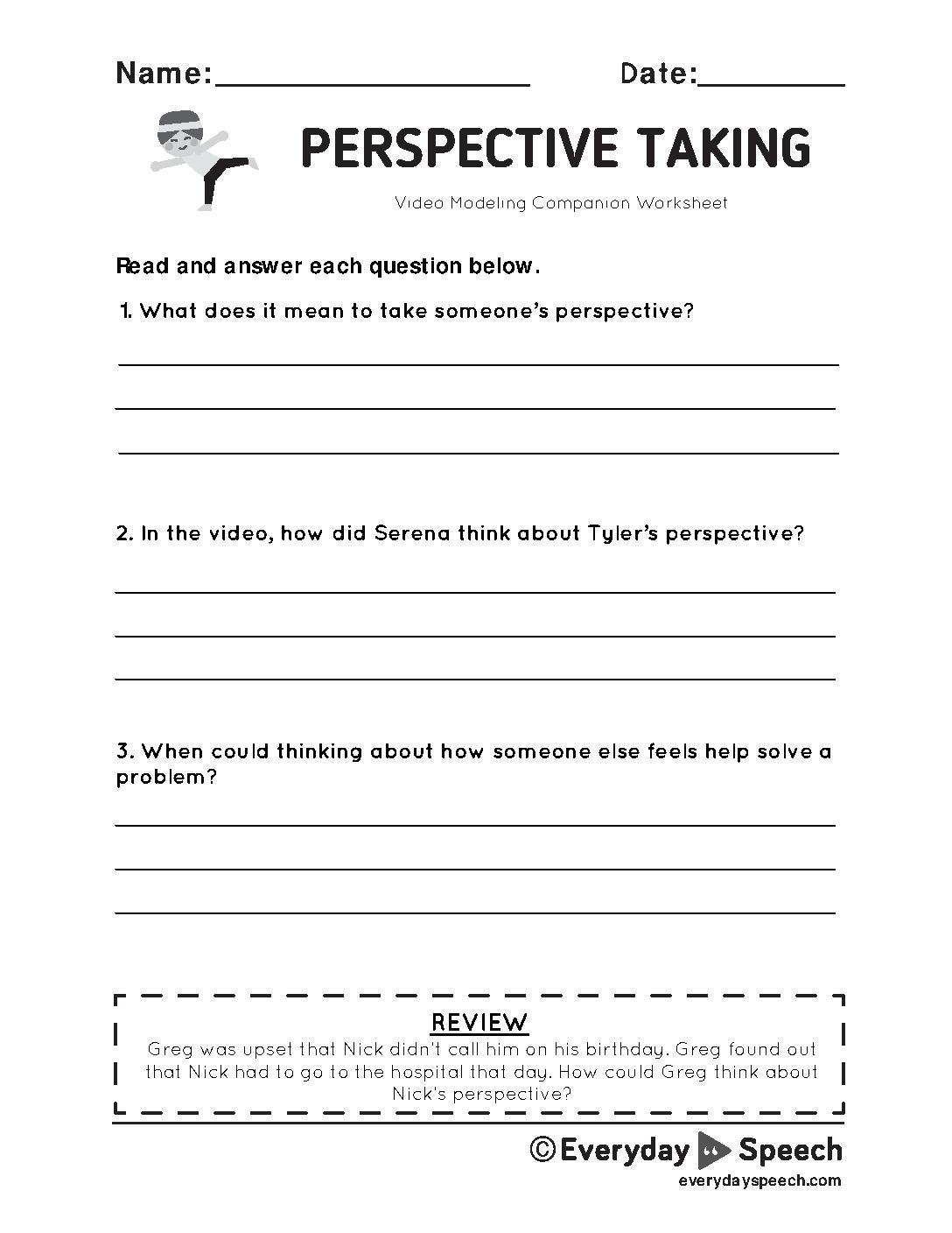 Lesson Plan Understanding Others Point Of View