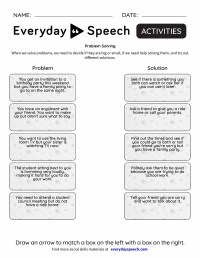 Problem Solving Scenarios For Middle School Worksheets ...