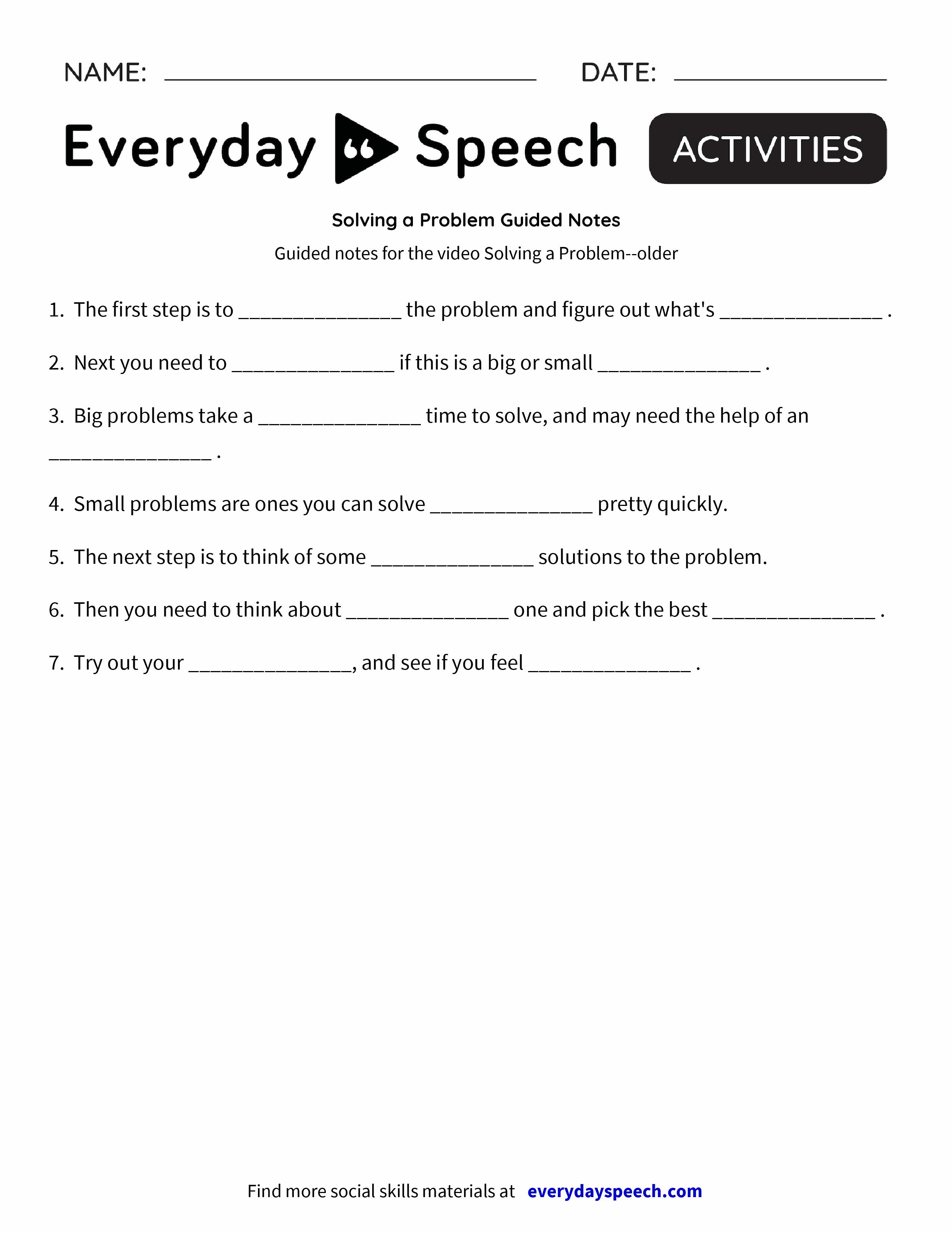 Lv G Problem Guided Es Everyd Y Speech Everyd Y Speech
