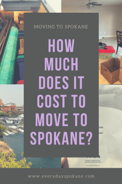 Image of Pinterest pin, how much does it cost to move to Spokane?
