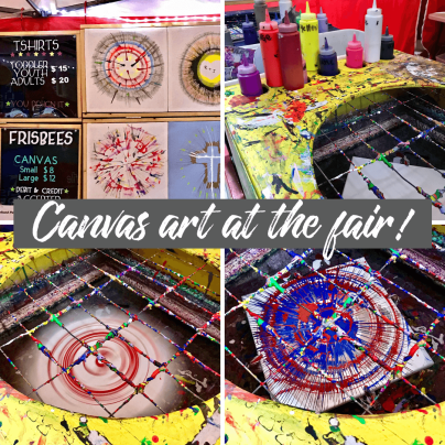 image of canvas art at the Spokane Fair