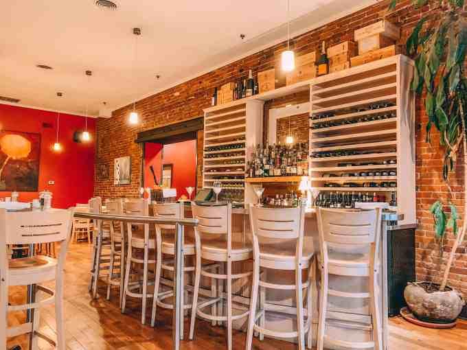 image of Wine bar area in Mizuna