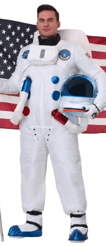 mens astronaut cold weather costume idea