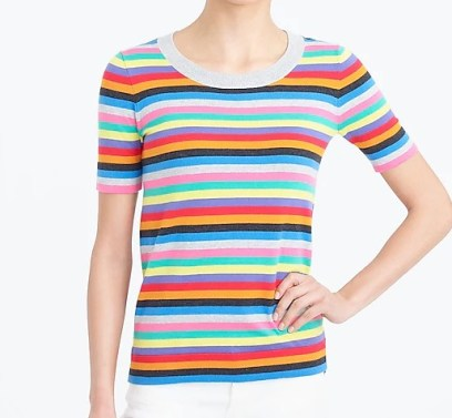 JCrew Factory Multi Stripe Sweater