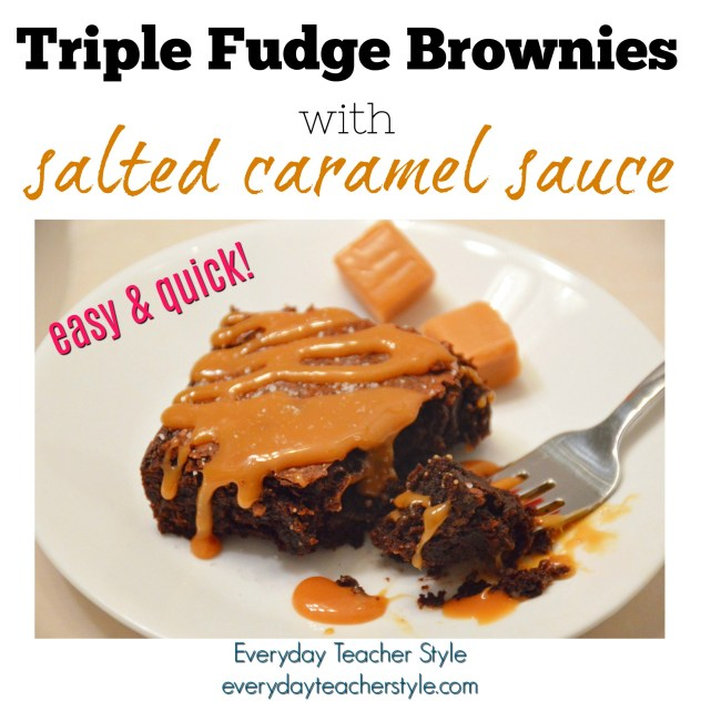 Triple Fudge Salted Caramel Brownies Recipe