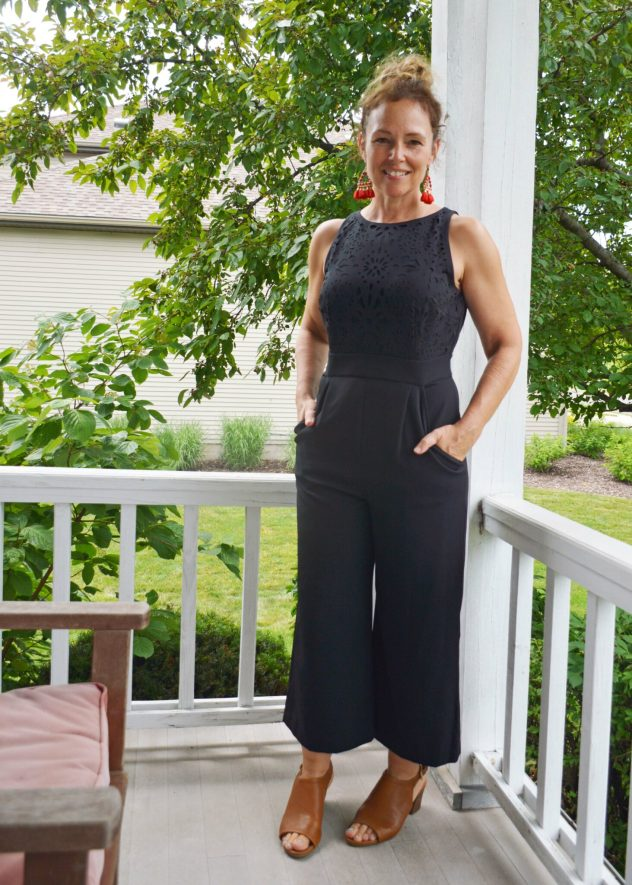 Stitch Fix Tahari ASL Jumpsuit Mada Laser Cut Midi