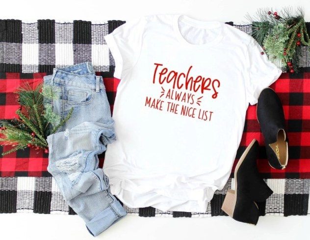 Christmas Tees for Teachers