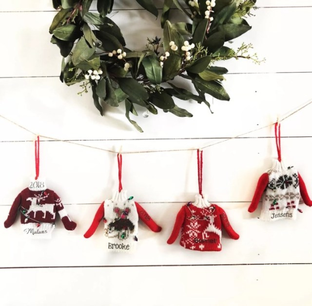 Personalized Ugly Christmas Sweater Ornaments