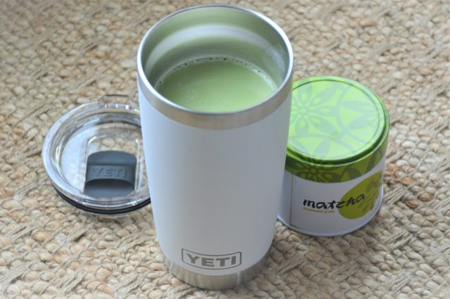 Morning Matcha Latte to Go in Yeti Rambler