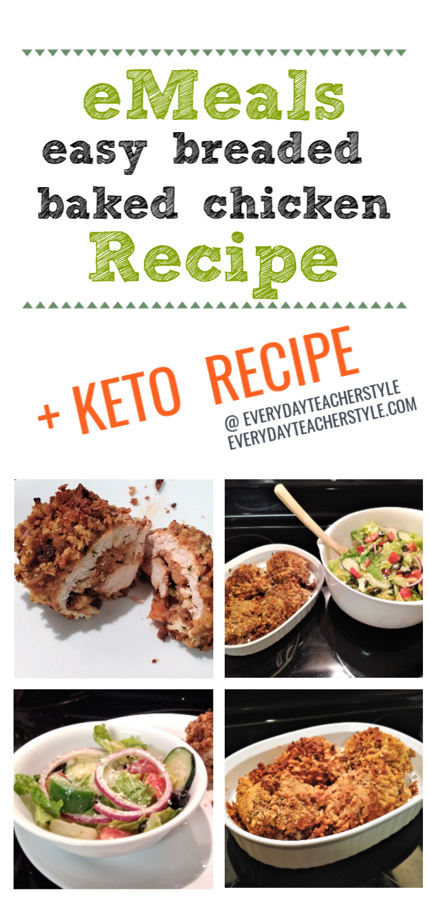 eMeals Breaded Baked Chicken Recipe and Keto Oven-Roasted Chicken Recipes
