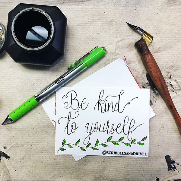 Lily Dale @wcribblesanddrivel caligraphy and meditation
