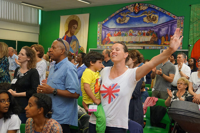 Visiting a Charismatic Catholic Conference