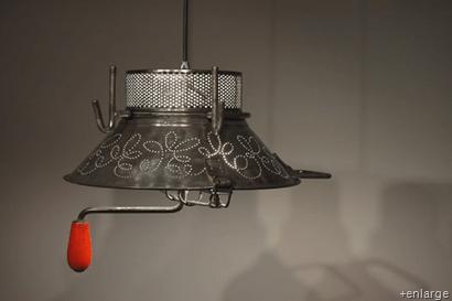 "Colander lamp by French designer ""Garbage"""