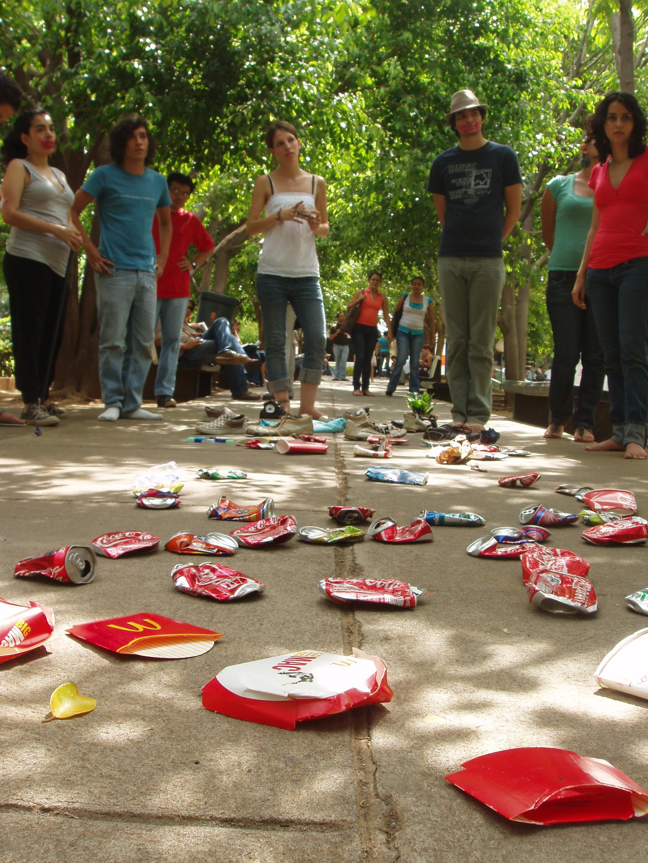 Nicaraguan university trash