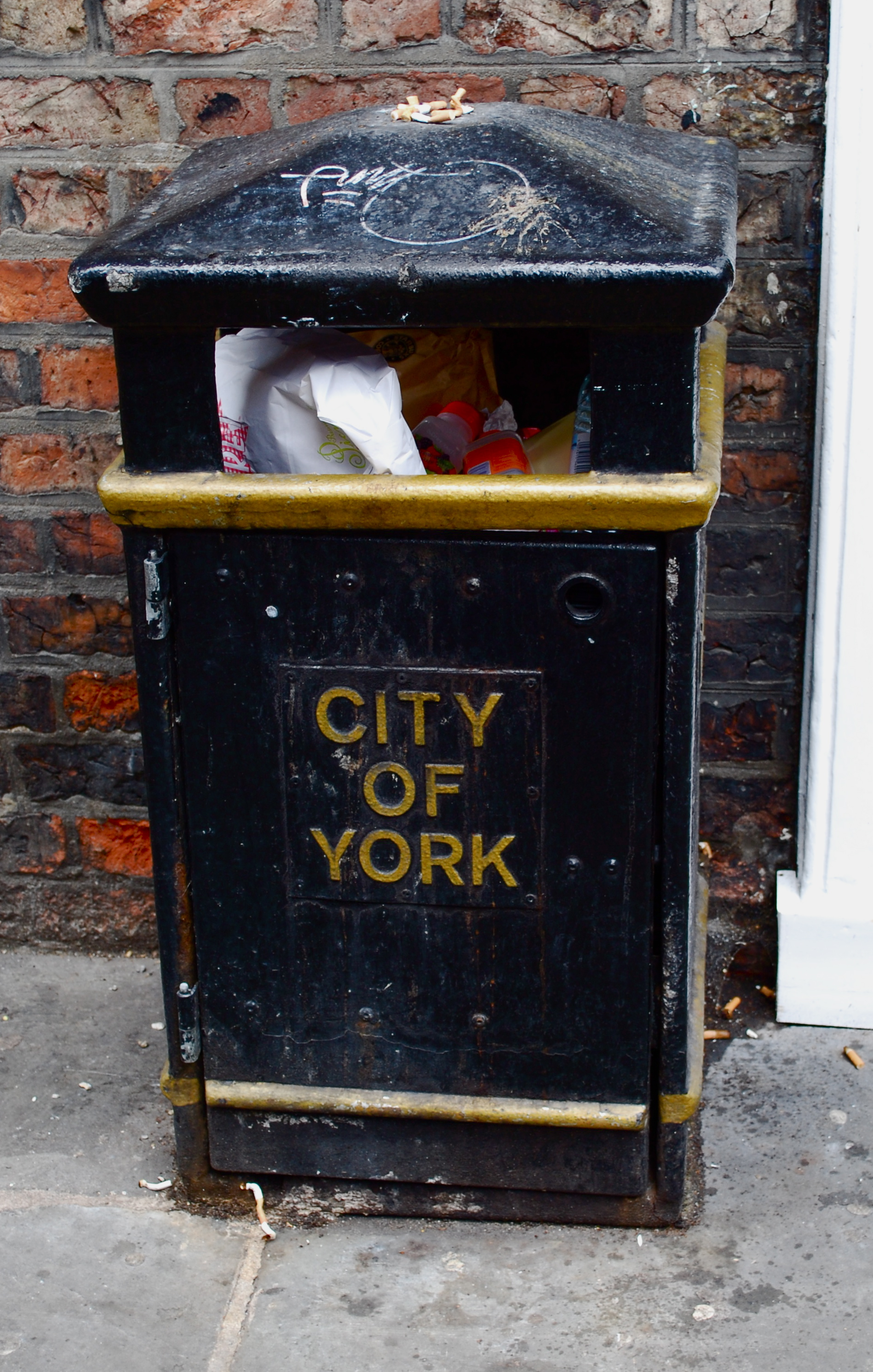 Yes, we paint our dustbins with gold, because trash is holy
