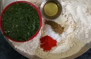 Palak Puri Ingredients