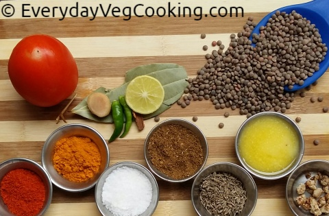 Masoor Dal Ingredients