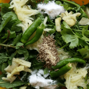 Coriander, mint and raw mango chutney