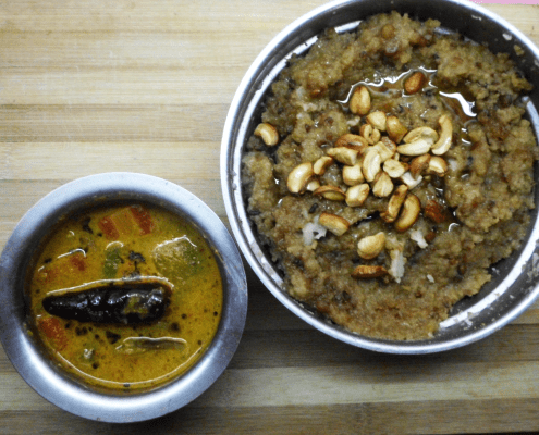 Chakkara pongal and 7kari kootu