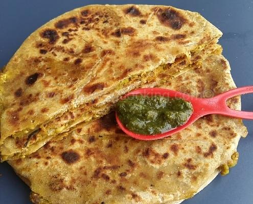 Matar Paneer Cheese Paratha
