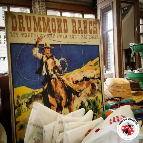 Drummond Ranch decor at The Pioneer Woman Mercantile