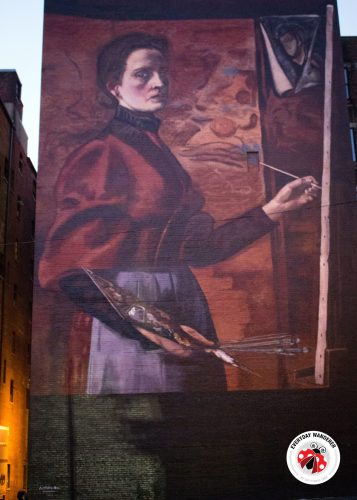 Elizabeth Nourse Self Portrait Mural in Cincinnati