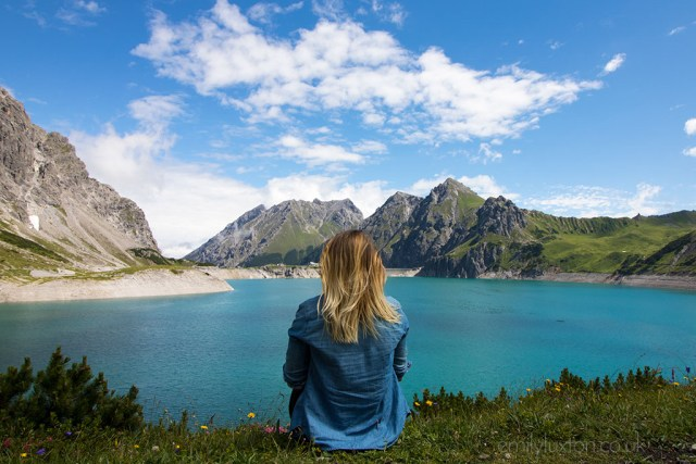 Emily Luxton at the Lunersee in Austria