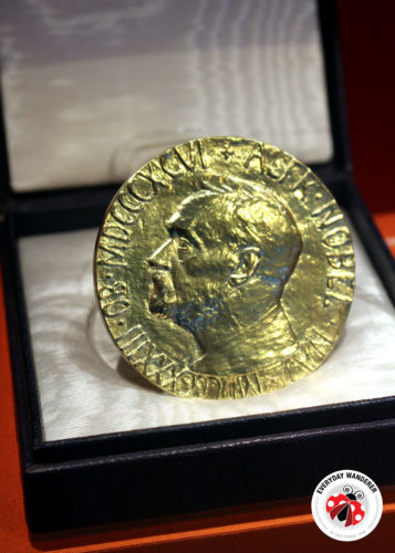 Jimmy Carter's Nobel Peace Prize on display at the Carter Museum