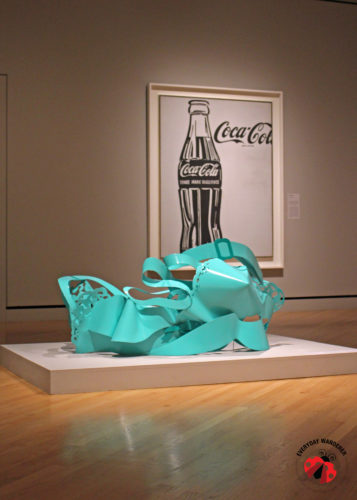 Tom Wesselmann's Dropped Bra and Andy Warhol's Coke bottle at the Crystal Bridges Museum