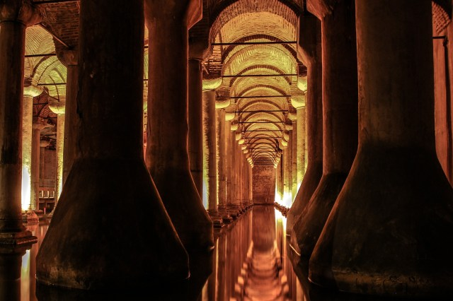 Visit the Basilica Cistern in Istanbul via Dan Brown's book, Inferno