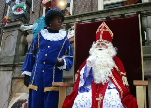 Sinterklaas and Piet in the Netherlands at Christmas