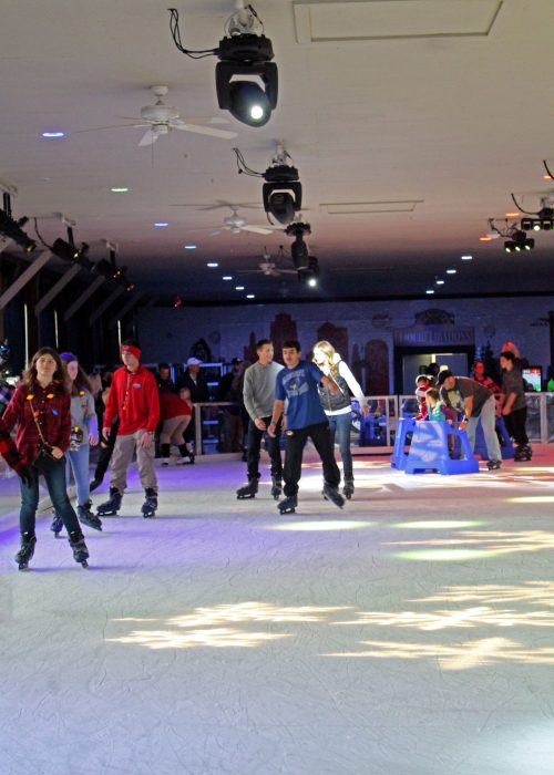 Ice Skating at WinterFest at Worlds of Fun