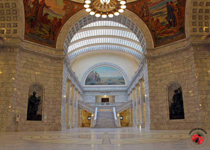 Arched skylights in the Utah State Capitol