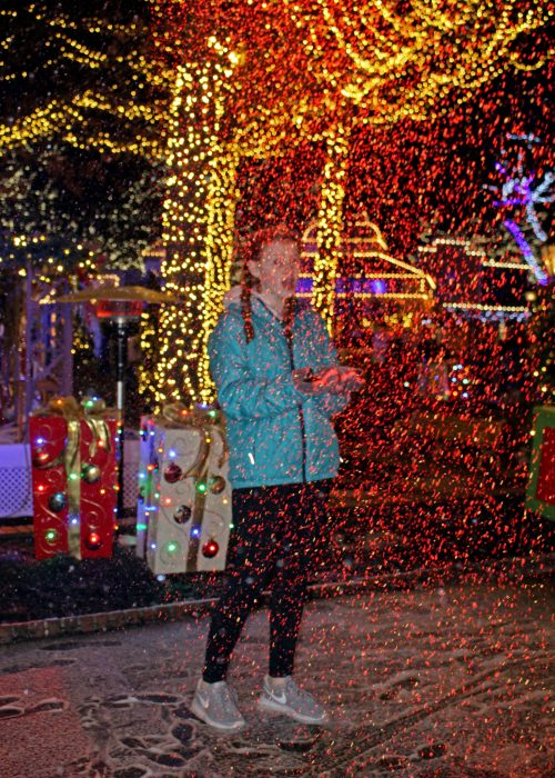 Snow falls nightly at WinterFest at Worlds of Fun