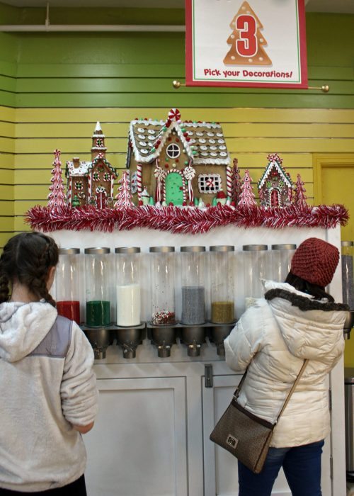 The sprinkle dispenser at Mrs. Claus' Kitchen at WinterFest