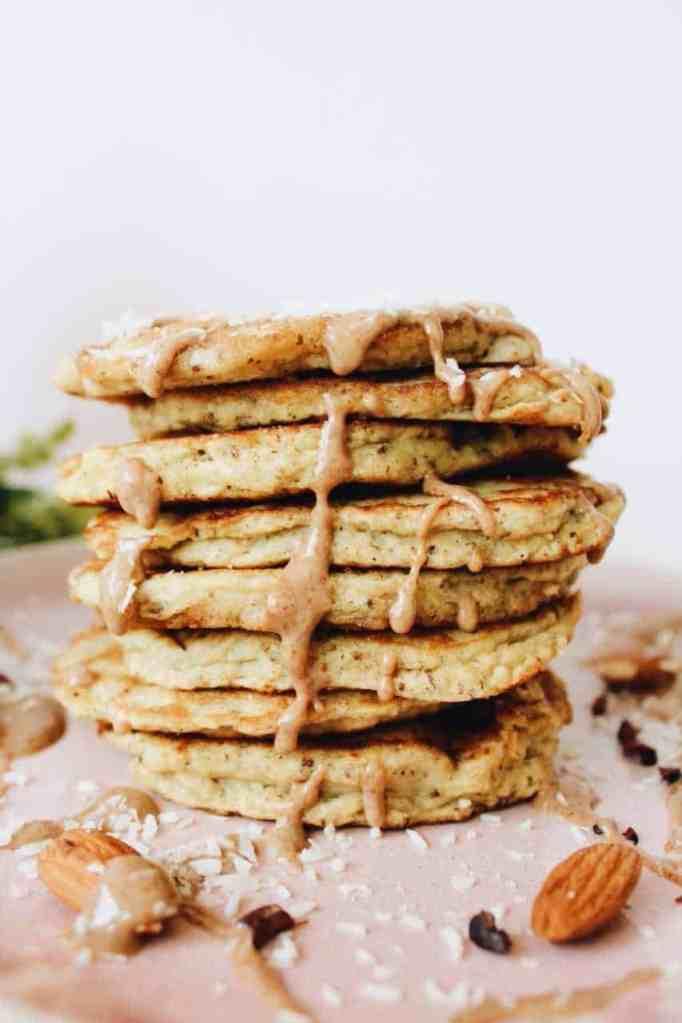 Coconut Flour Pancakes Made with Homemade Nut Milk