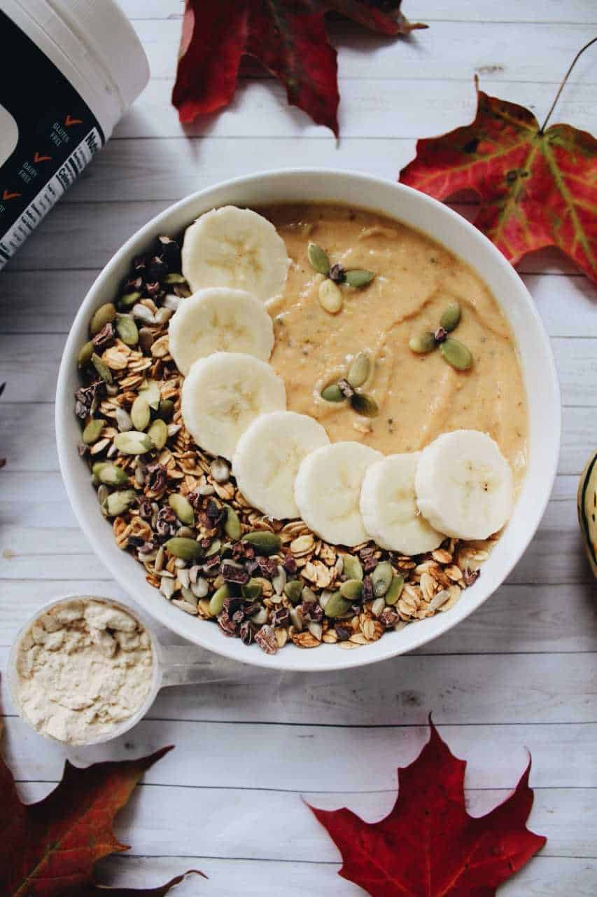 Delicata Squash Fall Smoothie Bowl with Nuzest