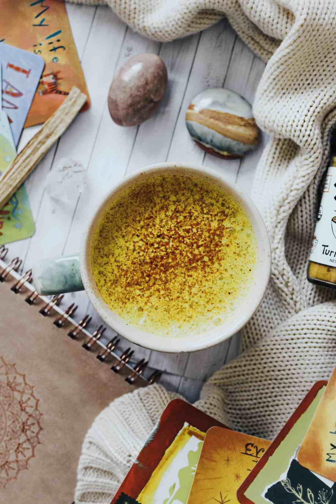 This homemade turmeric latte, commonly known as the ancient Ayurvedic beverage: Golden Milk..is easy to make, diary free & full of anti-inflammatory spices!