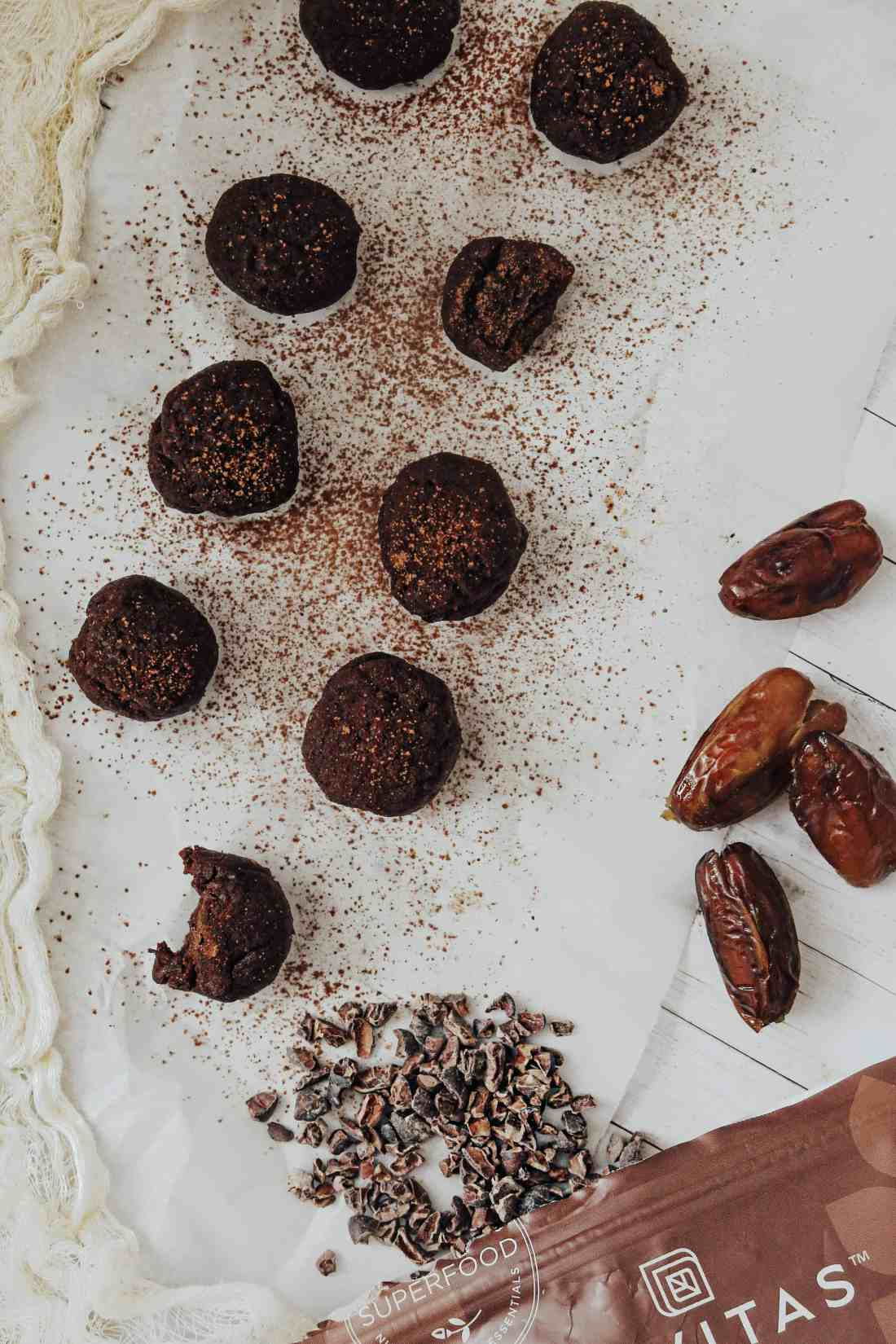 These energy boosting, mood balancing, Raw Cacao Truffles made with maca powder, make for a perfect, healthy, vegan dessert or mid-day snack!