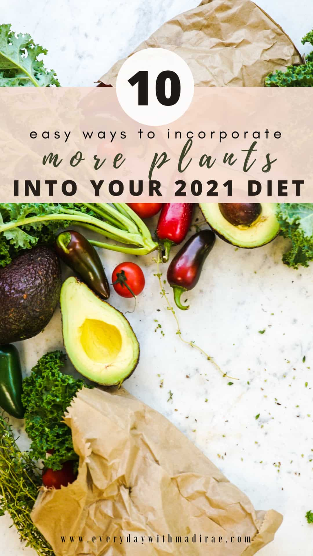 Sharing 10 easy ways to incorporate more plants into your diet in 2021! These simple plant based tips will help better fuel both body & mind!