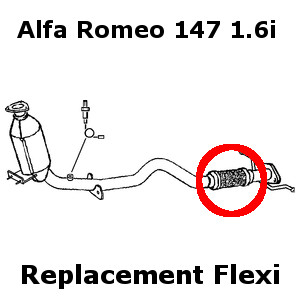 Alfa Romeo 147 1.6i 2001-06 DIY Replacement Repair Flex