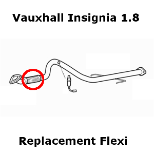 Vauxhall Insignia 1.8 2008-Onward Exhaust Replacement Flex