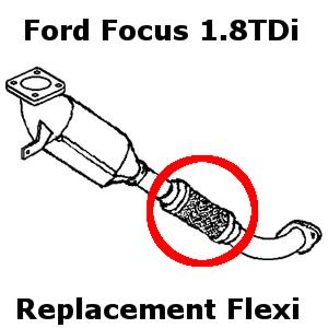 Ford Focus 1.8 TDCi 2001-2004 Exhaust Repair Flexi Flex