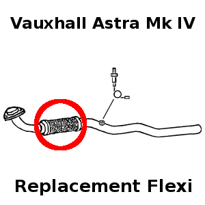 Vauxhall Astra 1.6 1998-05 Exhaust Repair Flexi Flex