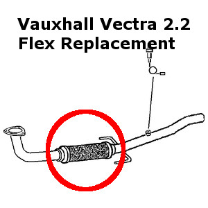 Opel Vectra GTS 2.2 2002-09 Exhaust Repair Flexi Flex
