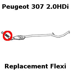 Peugeot 307 2.0HDi 2000-Onward Weld On Replacement Repair